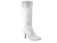 PP205 Boot White Leather with Elastic (6 Weeks)