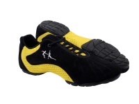 VFSN016 Black Suede & Yellow