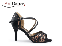 PortDance Fashion PD506 Leopard Black Satin