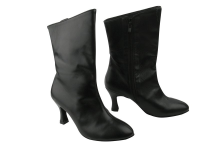 PP205A Ankle Boot Black Leather (6 Weeks)
