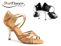 PortDance Fashion PD410 Dark Tan Satin