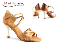 PortDance Fashion PD400 Dark Tan Satin