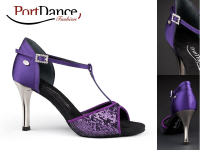 PortDance Fashion PD600 Purple Satin & Sequin