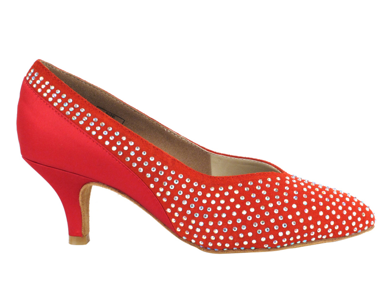 CD5506 Red Suede & Satin