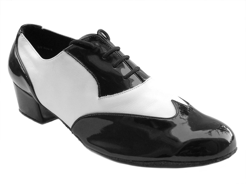 100101M Black Patent & White Leather 1.5