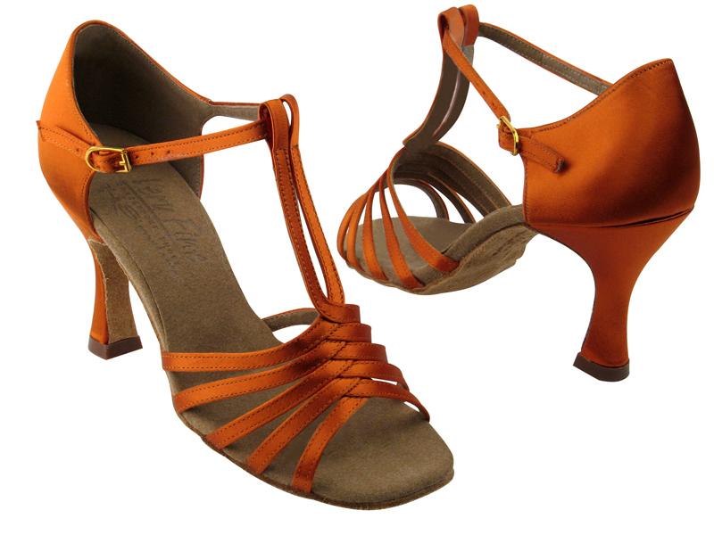 S92319 Orange Tan Satin